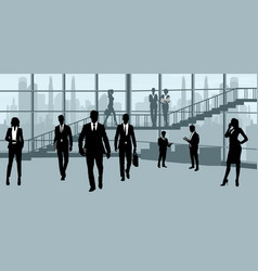 businesspeople in office vector image