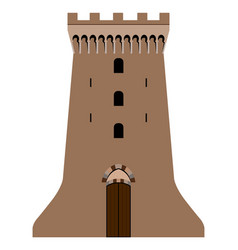 castle tower image vector image