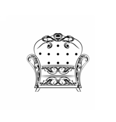 Classic royal armchair with ornaments vector image