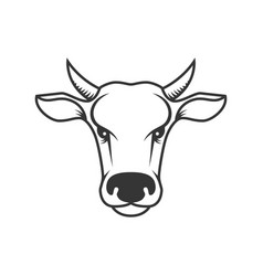 cow head design element for poster label sign vector image