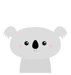 cute koala bear kawaii cartoon character funny vector image