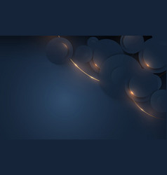 dark blue and gold geometric luxury background vector image