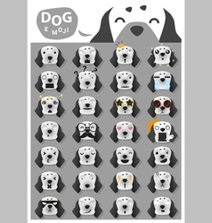Dog emoji icons 3 vector image