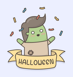 doodle zombie vector image