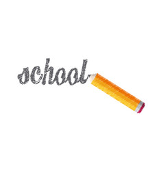drawing school pencil lettering vector image