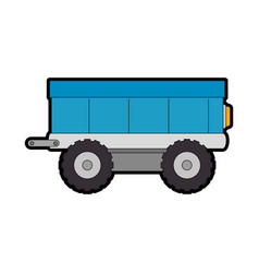 farm carriage isolated icon vector image