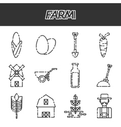 Farm icons set vector