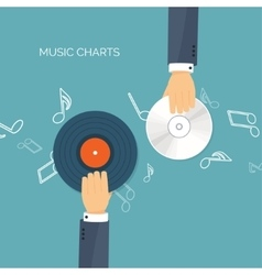 Flat background Music vector