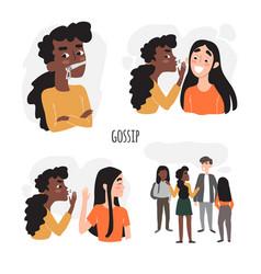 Friendship gossip and secrets don t gossip vector