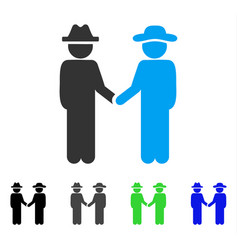 Gentleman handshake flat icon vector