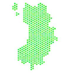 Green honeycomb koh tao thai island map vector