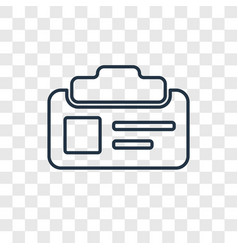 id card concept linear icon isolated on vector image