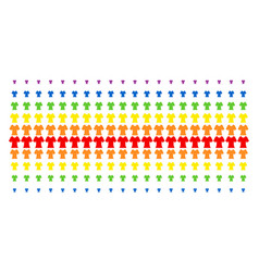 lady t-shirt shape halftone spectral grid vector image