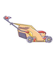 Lawn mower icon cartoon style vector