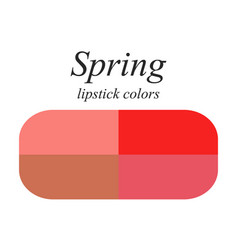 Lipstick colors for spring type vector