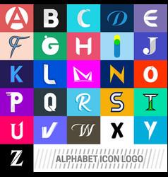 logotype alphabet icons logo vector image