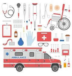 Medicine equipment vector