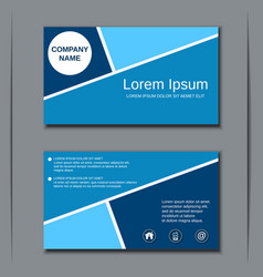 modern business visiting card template vector image