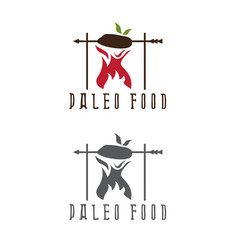 Paleo food meat and arrow design template vector