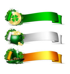 patricks day banners vector image