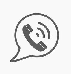 phone icon contact call center support vector image