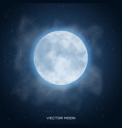 Realistic beautiful moon with glow effect vector