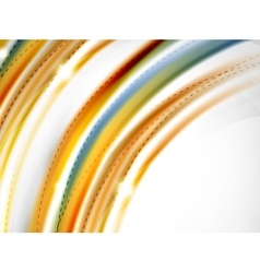 Red and orange color lines in swirl circle vector image vector image