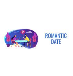Romantic date concept banner header vector