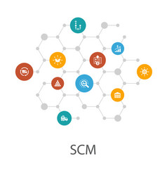 Scm presentation template cover layout vector