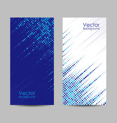 set banners with dots vector image