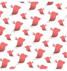 silhouette nice bird animal background vector image