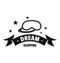 Sleeping logo simple black style vector