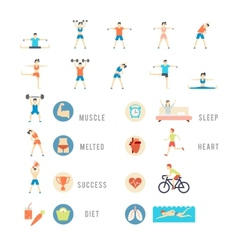 Sports and Health People vector