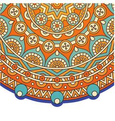 vintage circle mandala orange background im vector image