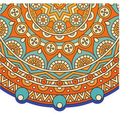 Vintage circle mandala orange background im vector