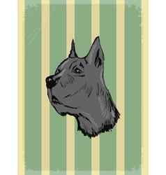 Vintage grunge background with dog vector
