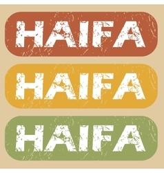 Vintage Haifa stamp set vector
