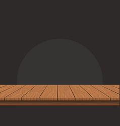 Wooden board top on transparent background vector