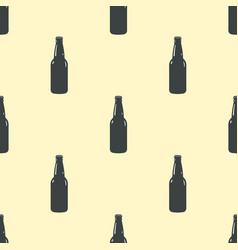 beer bottle pattern seamless background vector image
