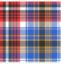 blue check plaid tartan seamless pattern vector image