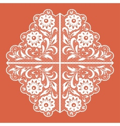 Lace floral pattern vector