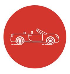 line art style cabriolet car icon vector image
