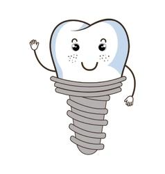 Medical dental care cartoon theme design vector image vector image