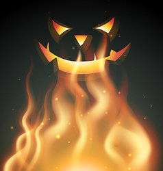 smiling halloween ghost vector image vector image
