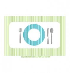 dinner setting vector image