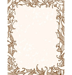 doodles frame with leaves vector image vector image