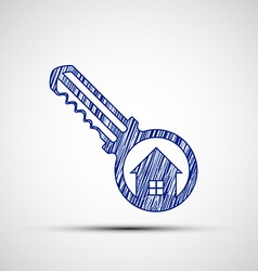 Logo key from the door vector image vector image