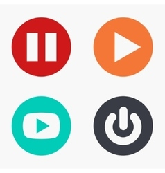 modern play colorful icons set vector image