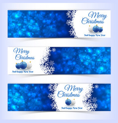 new year christmas banners set vector image vector image
