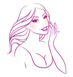 smile cosmetic vector image